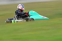 Peter Cottam, 9, races in the Rotax Heavy class during the 2012 Superkart National Champs and Grand Prix at Manfeild in Feilding, New Zealand on Saturday, 7 January 2011. Credit: Hagen Hopkins.