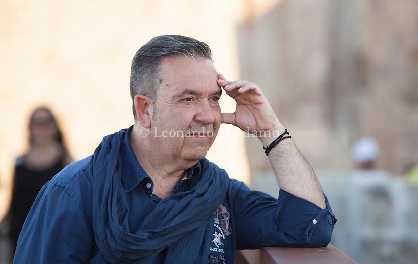 Ferdinando Scavran, sociologo, di origine veneta, nasce a Taranto e vive nel Salento. È studioso delle Tradizioni, della Storia, della Religione e della Cultura. Otranto (Lecce) 19 luglio 2016. © Leonardo Cendamo