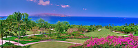 Wailea Golf Club, Championship, Gold, Golf Course, Maui, Hawaii, Panorama