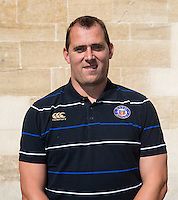 Assistant Academy Manager George Tavner poses for a portrait at a Bath Rugby photocall. Bath Rugby Media Day on September 8, 2015 at Farleigh House in Bath, England. Photo by: Rogan Thomson for Onside Images