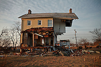 "A House named as ""Princess Cottage"" is seen in Union Beach, One month after been affected by the hurricane Sandy in New York, United States. 29/11/2012. Photo by Kena Betancur/VIEWpress."