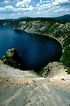 OR: Oregon; Crater Lake National Park, scenic view from Skell Head          .Photo Copyright Lee Foster, lee@fostertravel.com, www.fostertravel.com, (510) 549-2202.Image orcrat214
