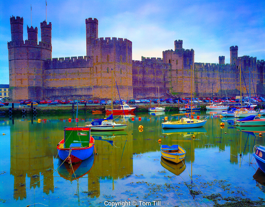 Caernarfon Castle  Caernarfon, Wales, United Kingdom  Begun in 1238 by Edward 1   English Heritage Property   May