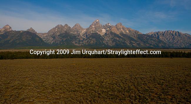 Jim Urquhart/Straylighteffect.com The Tetons of Grand Teton National Park north of Jackson Hole, Wyoming. Jim Urquhart/Straylighteffect.com