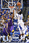 UK sophomore guard Ryan Harrow shooting the ball while being guarded by LSU sophomore guard Anthony Hickey during the second half of the men's basketball game vs. LSU at Rupp Arena on Saturday, January 26, 2013, in Lexington, Ky. Photo by Kalyn Bradford | Staff