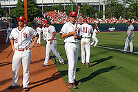 June 4, 2011 - Charlottesville, Virginia - USA; Jeremy Baltz with the St. Johns baseball team during the NCAA baseball tournament at Davenport Field. (Credit Image: © Andrew Shurtleff)