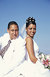 A wedding couple in Havana. Cuba