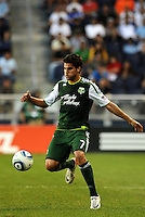 Sal Zizzo (7) midfielder Portland Timbers in action... Sporting Kansas City defeated Portland Timbers 3-1 at LIVESTRONG Sporting Park, Kansas City, Kansas.