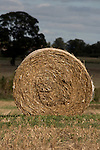 Single bale of hay, North Yorkshire, England. Sep 2007