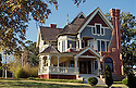 The Jeremiah Nunan House, also called the Catalogue House, a restored Queen Anne Victorian style home built in 1892 in Jacksonville, Oregon. A National Historic Landmark..#2343-0318
