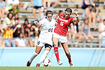 06 October 2013: North Carolina's Alexa Newfield (88) and Maryland's Megan Gibbons (16). The University of North Carolina Tar Heels hosted the University of Maryland Terrapins at Fetzer Field in Chapel Hill, NC in a 2013 NCAA Division I Women's Soccer match. UNC won the game 3-1.
