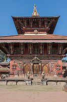 Nepal, Changu Narayan Temple, before April 2015 earthquake.  The temple was heavily damaged in the earthquake, but will be repaired.