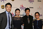 Alex and Maia Shibutani pose with Nathan Chen - Figure Skating in Harlem celebrates 20 years - Champions in Life benefit Gala on May 2, 2017 in New York Ciry, New York. (Photo by Sue Coflin/Max Photos)