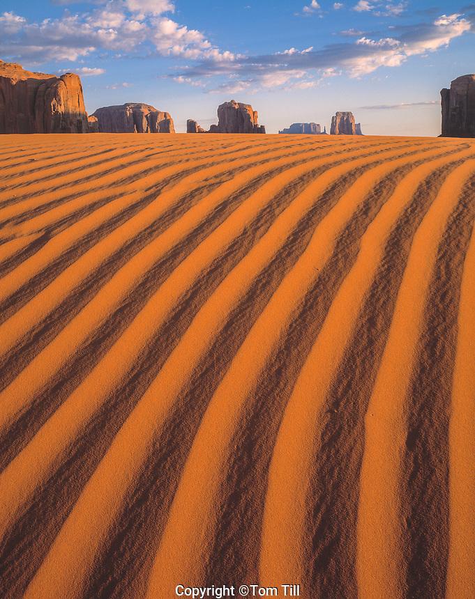 Dunes, Monument Valley, Arizona  Monument Valley Tribal Park, Navajo Reservation