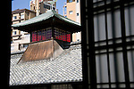 Photo shows the clock tower at Dogo Onsen, thought to be Japan's oldest spa in Matsuyama City, Ehime Prefecture, Japan on 20 Feb. 2013.  Photographer: Robert Gilhooly