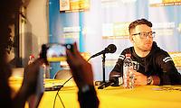 Picture by Simon Wilkinson/SWpix.com 30/06/2016 - Cycling Tour de France 2016. TDF Media Centre, Saint Lo press conference <br /> Mark Cavendish<br /> copyright picture - Simon Wilkinson - simon@swpix.com