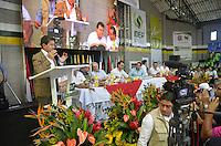 "TAMESIS, CO JULY 24: Antioquia Governor Luis Pérez Gutiérrez speaks during ""Encuentro de Dirigentes del Suroeste"" in Tamesis Antioquia on July 24, 2016.(Photo by VIEWpress/Guillermo Betancur)"