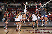 Stanford, CA - November 12, 2016: Stanford falls to UCLA, 16-25, 25-21, 23-25, 25-16, 11-15 at Maples Pavilion.