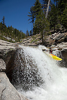 """Kayaker on Silver Creek 14"" - This kayaker was photographed on Silver Creek - South Fork, near Icehouse Reservoir, CA."