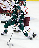 Eric Robinson (Dartmouth - 19), Patrick Brown (BC - 23) - The Boston College Eagles defeated the visiting Dartmouth College Big Green 6-3 (EN) on Saturday, November 24, 2012, at Kelley Rink in Conte Forum in Chestnut Hill, Massachusetts.