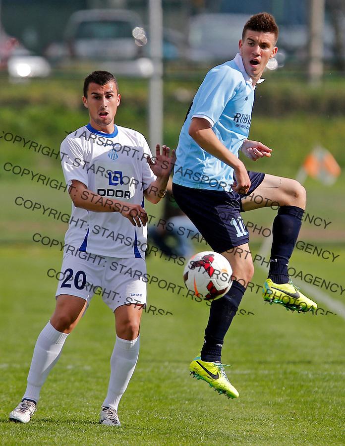 Andrija Lukovic (10) Milan Gajic (20) Jelen superliga, Rad - OFK Beograd 6.4.2014. (credit image & photo: Pedja Milosavljevic / STARSPORT / +318 64 1260 959 / thepedja@gmail.com)