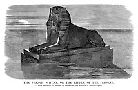 "The French Sphynx, or the Riddle of the Present. ""I have resolved to restore at Cherbourg the marvels of Egypt.' - Napoleon."