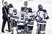 ?, Chad Ziegler (Yale - 59), Jason Torf (Air Force - 29), Nick Jaskowiak (Yale - 5), Kevin Peel (Yale - 23), Kenny Agostino (Yale - 18) - The Yale University Bulldogs defeated the Air Force Academy Falcons 2-1 (OT) in their East Regional Semi-Final matchup on Friday, March 25, 2011, at Webster Bank Arena at Harbor Yard in Bridgeport, Connecticut.