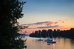 Sunset at Lake Champlain.