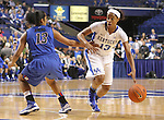 UK guard Bria Goss guards the ball from DePaul. The University of Kentucky Women's Basketball team hosted DePaul University Friday, Dec 07, 2012 at Rupp Arena in Lexington. Photo by Kirsten Holliday | Staff