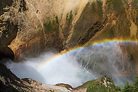 Rainbow over Lower Falls, Wyoming, USA