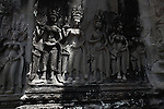 More than 3,000 bas-reliefs of apsaras, or heavenly nymphs, are carved into the walls of Angkor Wat, Cambodia. June 7, 2013.