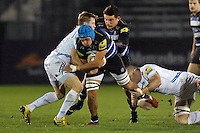 Zach Mercer of Bath United takes on the Exeter Braves defence. Aviva A-League match, between Bath United and Exeter Braves on November 30, 2015 at the Recreation Ground in Bath, England. Photo by: Patrick Khachfe / Onside Images