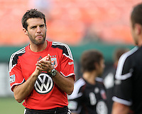 Assistant coach Ben Olsen of D.C. United during an MLS match against Seattle Sounders FC at RFK Stadium on July 15 2010, in Washington DC.Seattle won 1-0.