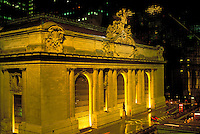Grand Central Terminal, New York City, NY, exterior at night