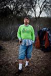 Michael Cardoza at the SafeGround camp in Sacramento, Calif., January 15, 2011.