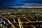 Colombia, Bogota, Sprawling Metropolis, High Plateau Surrounded By The Andes Mountains, Twlight, South America