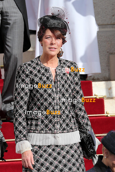 CPE/November 19,2012-Monaco (MCO)-Princely Family of Monaco and Princess CharlËne Wittstock of Monaco leave the Cathedral after the annual traditional Thanksgiving Mass as part of Monaco's National Day celebrations at Cathedral Notre-Dame on November 19th.