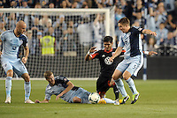 Aurelien Collin (78) ,Oriol Rosell (20),Matt Besler (5) Sporting KC, Rafael (9) D.C Utd..Sporting Kansas City defeated D.C Utd 1-0 at Sporting Park, Kansas City, Kansas.