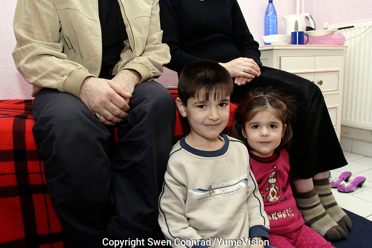 A Chechen man with is wife and there 6 Years old boy and 3 years old girl, in a Hotel room provide by the CAFDA in North Paris..In June 2005, they left by car Grozny to Rostov on the border of Ukraine. In Rostov, he pay 1500.-Us dollars, to smuggle all the family in a minivan to Strasbourg in France..There, the Kafka administration started. .In Strasbourg, they send him and is family to apply in Nancy, some 150 Km more to cover. .In Nancy, the administration accept is demand of asylum and made a first interview. But with no translator, Nancy write wrongly is family name..Arriving in Paris, during the second interview (with a translator), Paris write correctly is name..Result, the OFPRA (Office Français de Protection des Réfugiées et Apatrides) administration refuse they asylum request, because two different name was give to them.The family now, try to appeal the decision to the CRR administration.
