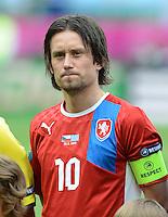 FUSSBALL  EUROPAMEISTERSCHAFT 2012   VORRUNDE Griechenland - Tschechien         12.06.2012 Tomas Rosicky (Tschechische Republik)
