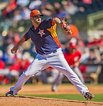 7 March 2013: Houston Astros pitcher Joshua Zeid on the mound during a Spring Training game against the Washington Nationals at Osceola County Stadium in Kissimmee, Florida. The Astros defeated the Nationals 4-2 in Grapefruit League play. Mandatory Credit: Ed Wolfstein Photo *** RAW (NEF) Image File Available ***