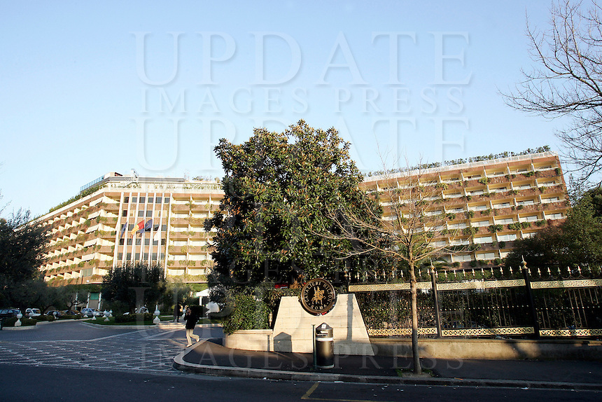 Una veduta esterna dell'Hotel Cavalieri Hilton di Roma, 14 febbraio 2008..An external view of the Cavalieri Hilton Hotel in Rome, 14 february 2008..UPDATE IMAGES PRESS/Riccardo De Luca