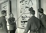 Military academy students study the parts of a Kalashnikov Submachine Gun...Russian military school at the Leningrad State University in 1969 which was celebrating 100 years of the birth of Lenin.