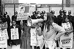 Grunwick Strike North London UK. 1977. Mrs Desai second left.