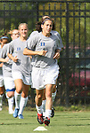 24 August 2008: Duke's Lorraine Quinn. The Duke University Blue Devils defeated the Coastal Carolina University Lady Chanticleers 9-0 at Koskinen Stadium in Durham, North Carolina in an NCAA Division I Women's college soccer game.