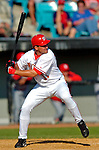 8 March 2006: Ryan Zimmerman, third baseman for the Washington Nationals, at bat during a Spring Training game against the St. Louis Cardinals. The Cardinals defeated the Nationals 7-4 in 10 innings at Space Coast Stadium, in Viera, Florida...Mandatory Photo Credit: Ed Wolfstein.