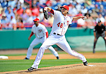 6 March 2011: Washington Nationals' pitcher Ross Detwiler on the mound during a Spring Training game against the Atlanta Braves at Space Coast Stadium in Viera, Florida. The Braves shut out the Nationals 5-0 in Grapefruit League action. Mandatory Credit: Ed Wolfstein Photo