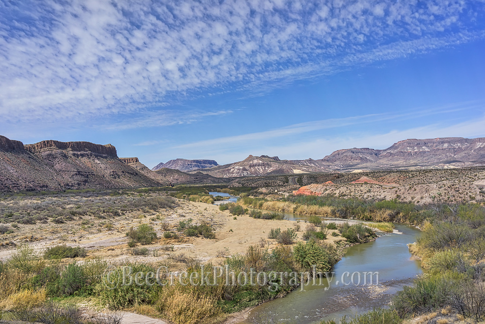 Another view of the Rio Grande as it snakes through the mountains of West Texas and Mexico on it way down to the gulf.