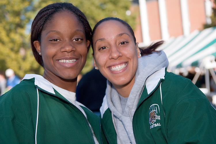 Women's Basketball...Caroline Barnett and Simone Redd