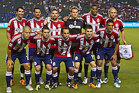 CARSON, CA – August 27, 2011: Chivas USA starting line-up for the match between Chivas USA and Real Salt Lake at the Home Depot Center in Carson, California. Final score Chivas USA 0, Real Salt Lake 1.